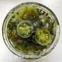 Nostalgia for Absent Loved Ones & Italian Pickled Green Tomatoes