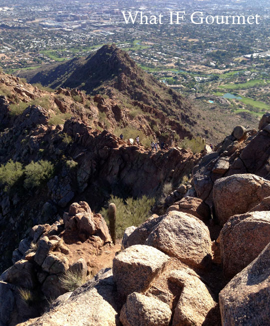 View from the top of Camelback's Echo Canyon Trail.