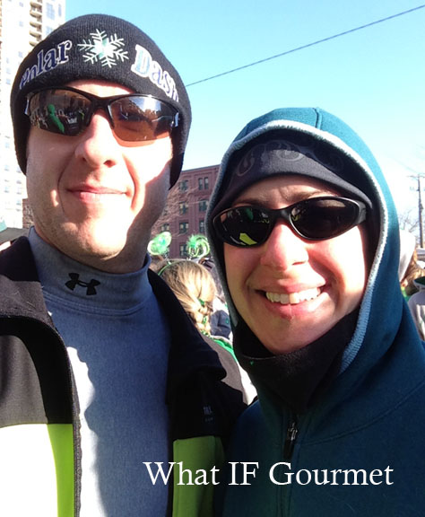 The Gent and I, waiting for the race to start in the 20-degree weather.