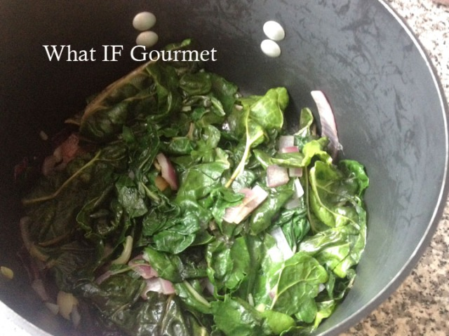Green chard and red onions.