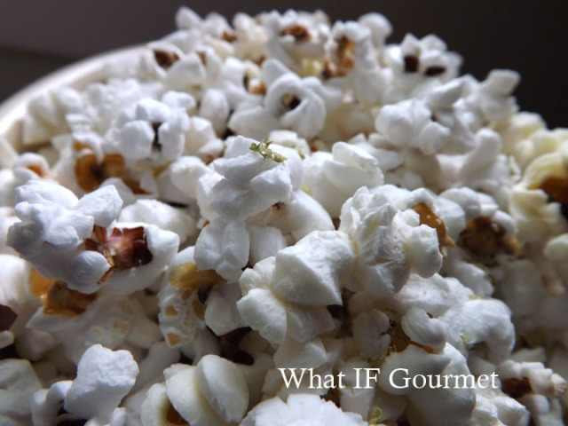 Crown Jewel popcorn with  lime salt and ground cumin.