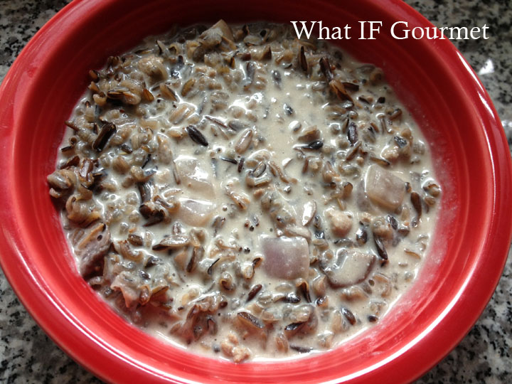 Creamy Mushroom and Wild Rice Soup (Gluten and Dairy Free) | What IF ...