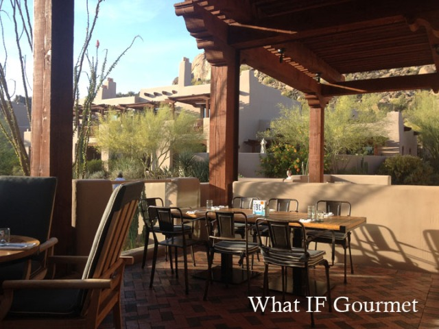 Patio dining at Proof Canteen, Scottsdale, AZ.