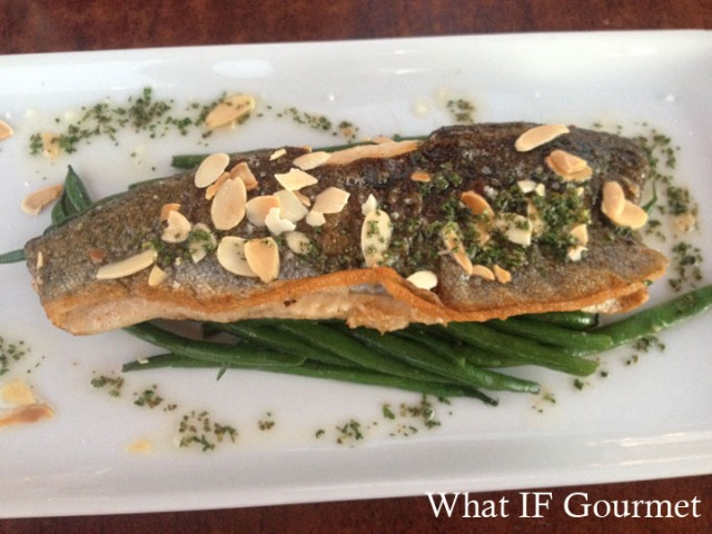 (Gluten-free) Trout Meuniere at Cafe Bink, Carefree, AZ.